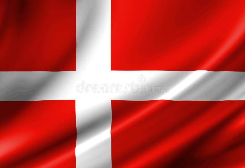 Bandeira dinamarquesa ilustração do vetor