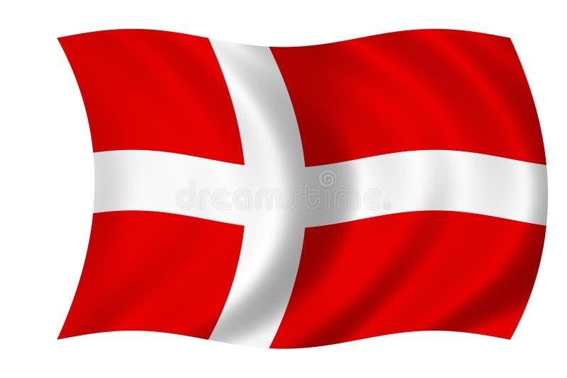 Bandeira dinamarquesa ilustração royalty free