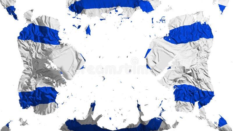 Bandeira dispersada de Israel ilustração stock