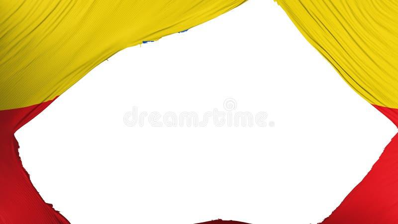Bandeira dividida de Bogotá ilustração royalty free