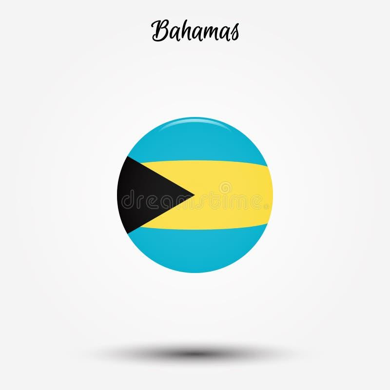 Bandeira do ícone do Bahamas ilustração do vetor