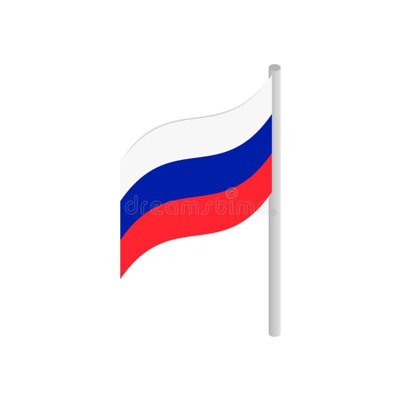Bandeira do ícone 3d isométrico de Rússia ilustração do vetor