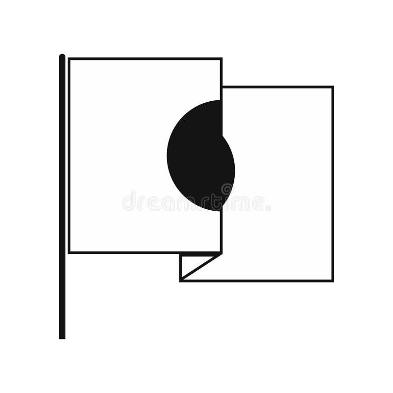 Bandeira do ícone de Japão, estilo simples ilustração do vetor