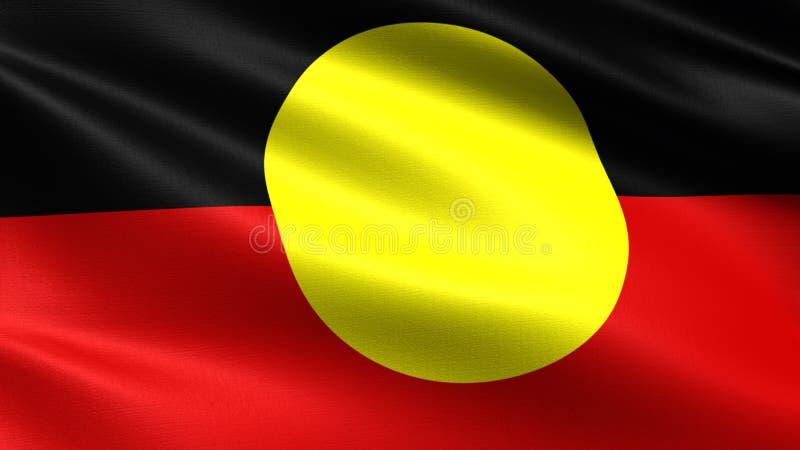 Bandeira do aborígene, com textura de ondulação da tela fotos de stock