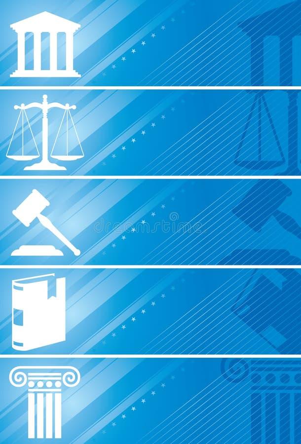 Bandeira do advogado ilustração do vetor