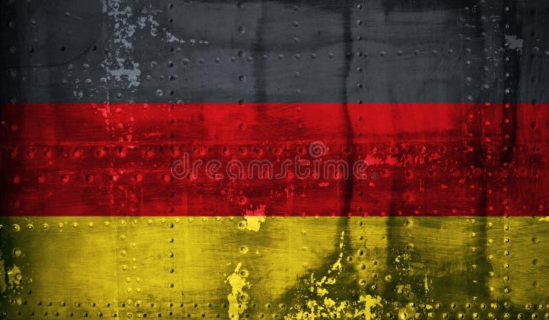 Bandeira do alemão de Grunge fotografia de stock royalty free