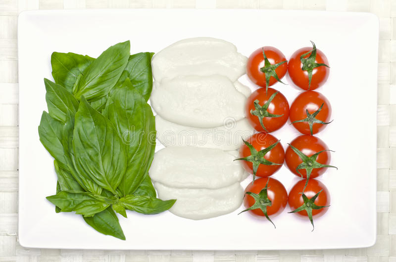 Bandeira do alimento de Italy imagem de stock