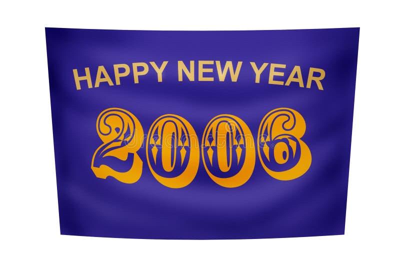 Bandeira do ano novo feliz ilustração royalty free