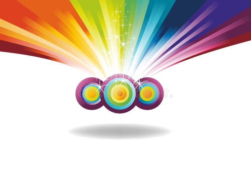 Bandeira do arco-íris com faíscas ilustração royalty free