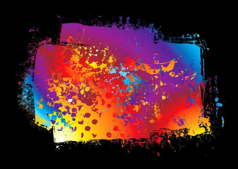 Bandeira do arco-íris de Grunge ilustração do vetor
