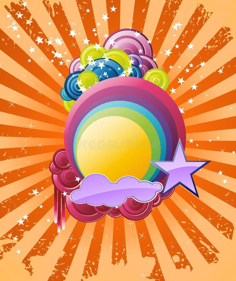 Bandeira do arco-íris do Discotheque ilustração royalty free