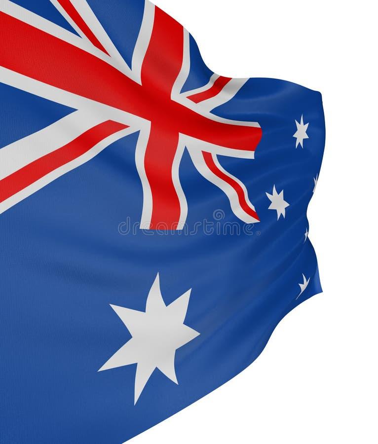 bandeira do Australian 3D ilustração royalty free