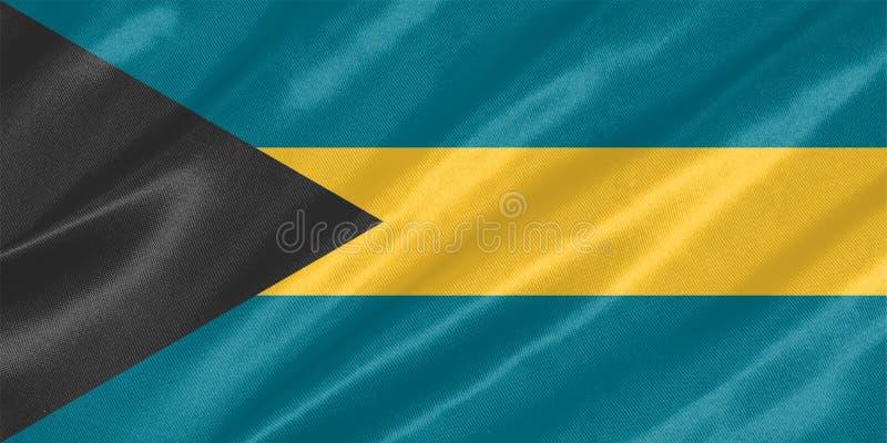 Bandeira do Bahamas ilustração do vetor