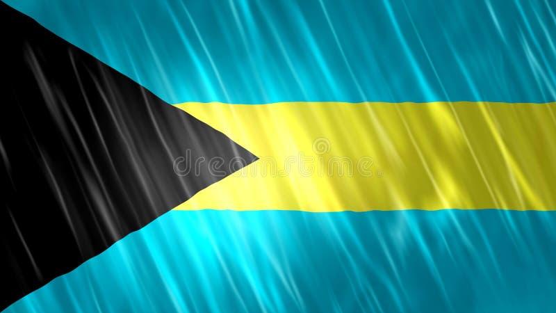 Bandeira do Bahamas imagem de stock