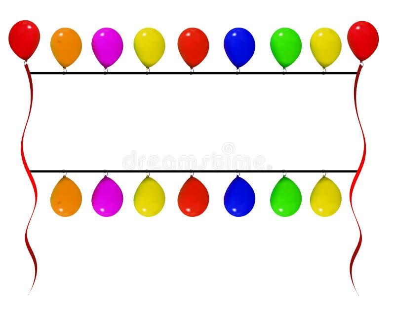 Bandeira do balão ilustração royalty free