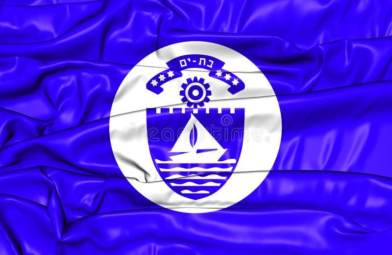 Bandeira do 'batata doce' do bastão, Israel ilustração royalty free