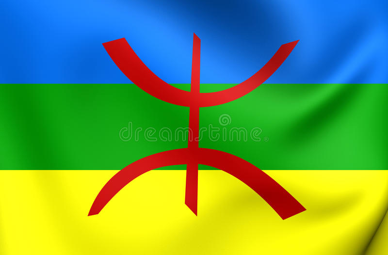 Bandeira do Berber ilustração royalty free