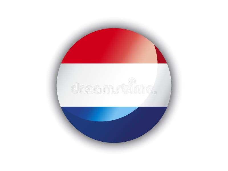 bandeira do círculo 3D dos Países Baixos ilustração do vetor