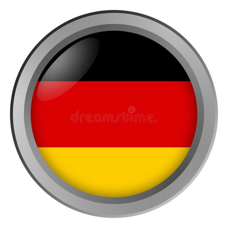 Bandeira do círculo de Alemanha como um botão ilustração do vetor