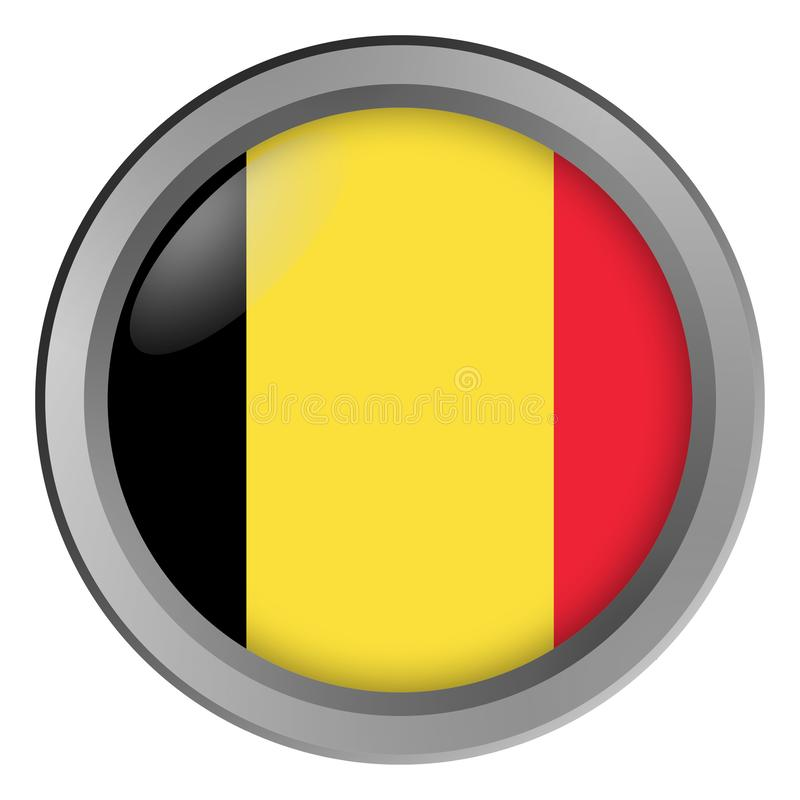 Bandeira do círculo de Bélgica como um botão ilustração stock