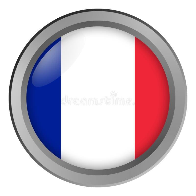 Bandeira do círculo de França como um botão ilustração royalty free
