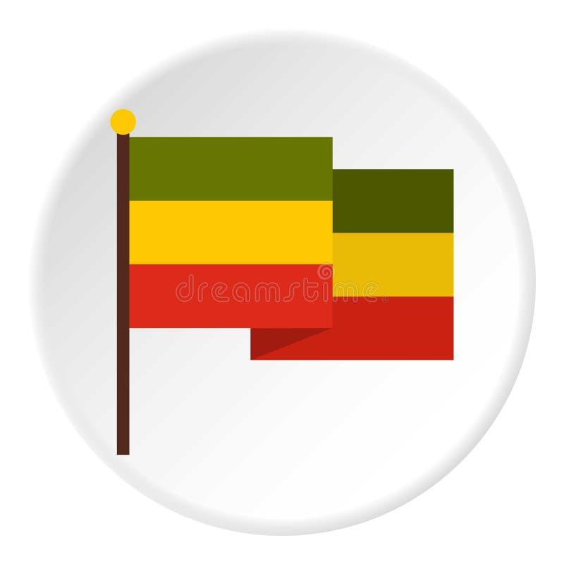 Bandeira do círculo do ícone de Jamaica ilustração stock