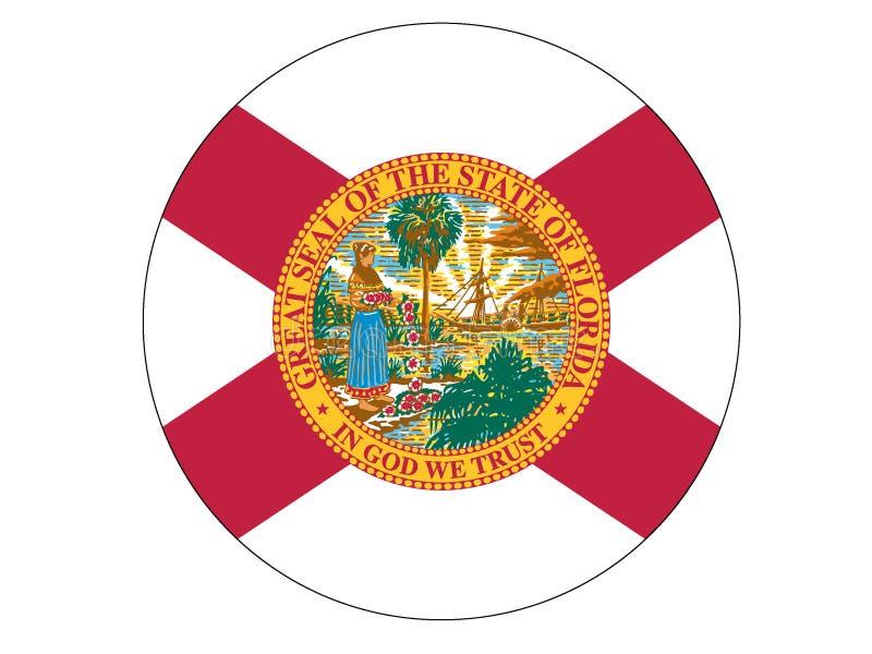 Bandeira do círculo do estado da Flórida dos EUA ilustração royalty free