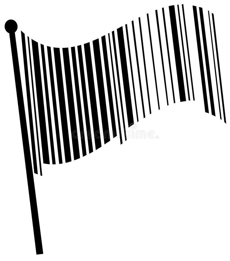 Bandeira do código de barras ilustração royalty free