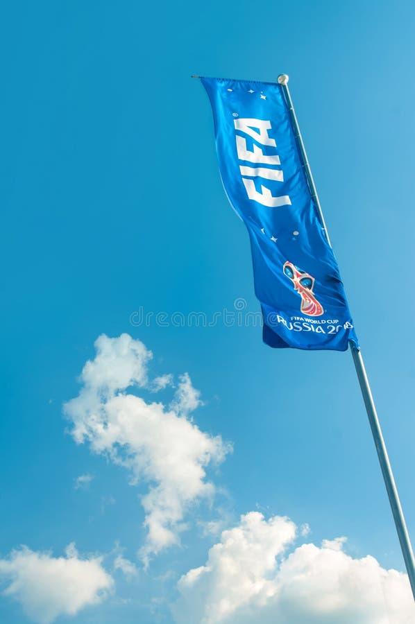 Bandeira do campeonato do mundo de FIFA fotografia de stock