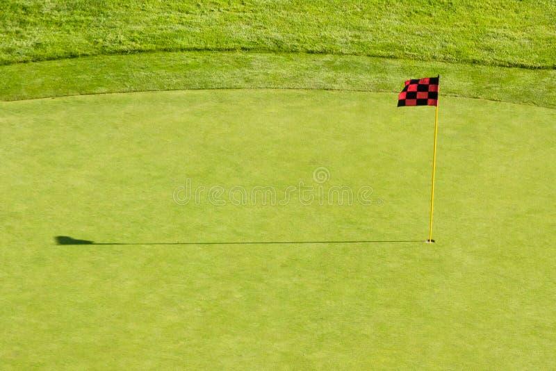 Bandeira do campo de golfe fotografia de stock royalty free