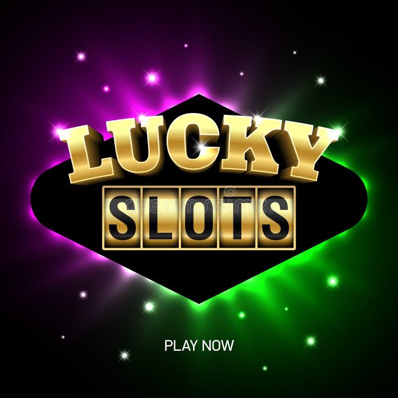 Bandeira do casino de Lucky Slots ilustração do vetor
