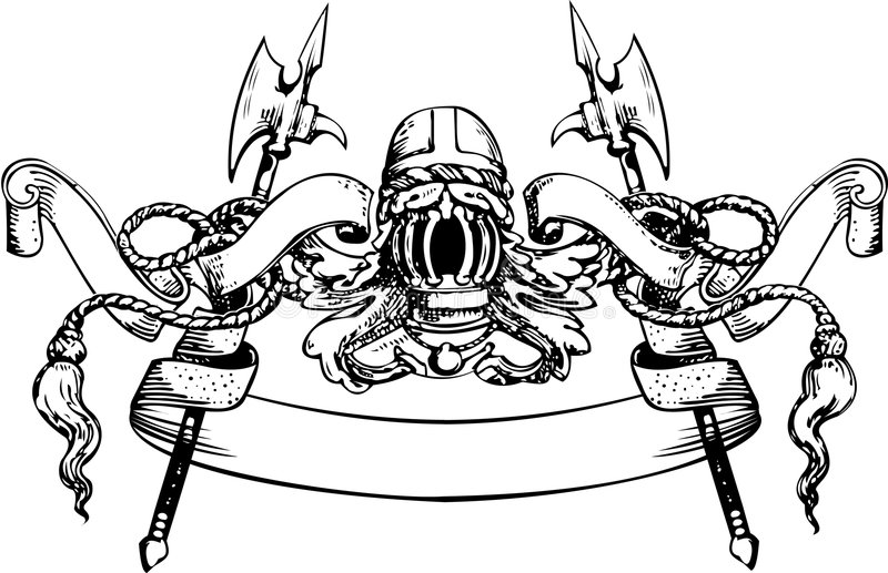 Bandeira do cavaleiro ilustração do vetor