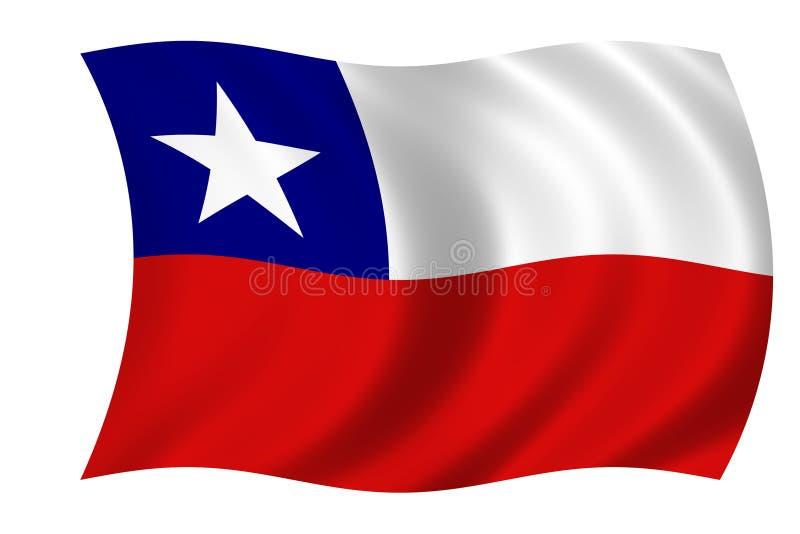 Bandeira do Chile ilustração royalty free