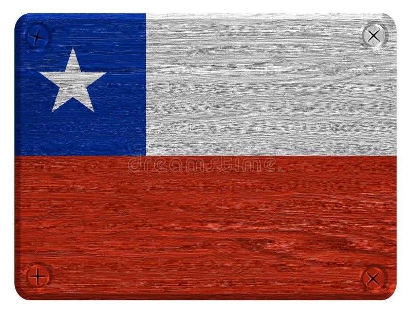 Bandeira do Chile imagens de stock royalty free