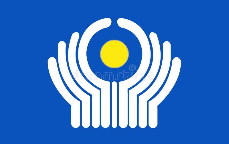 Bandeira do CIS ilustração stock