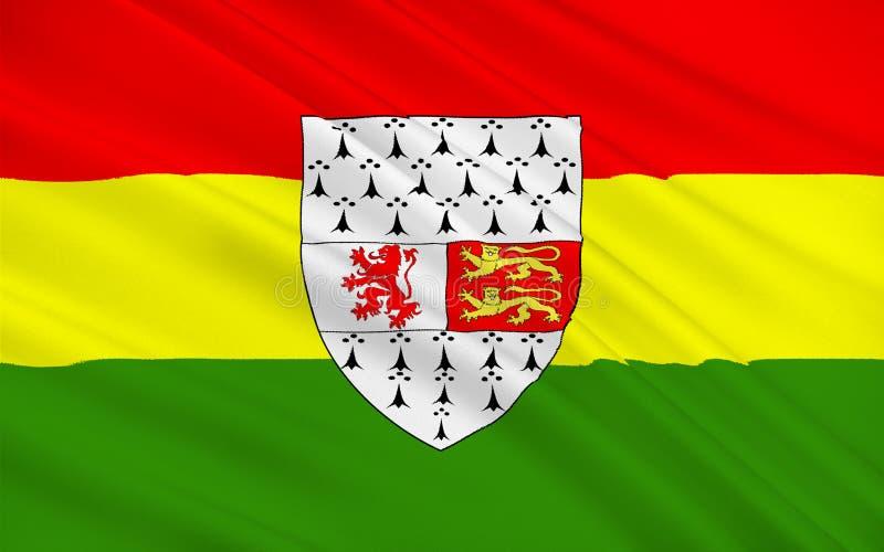 A bandeira do condado Carlow é um condado na Irlanda ilustração royalty free