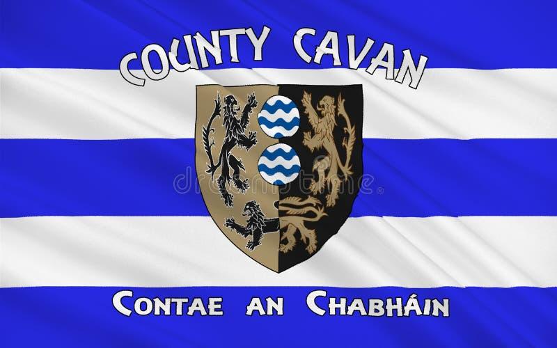 A bandeira do condado Cavan é um condado na Irlanda ilustração royalty free