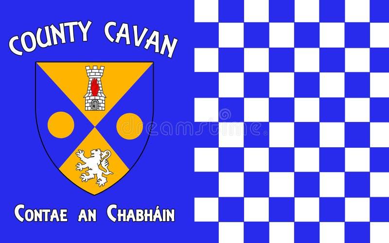 A bandeira do condado Cavan é um condado na Irlanda ilustração do vetor