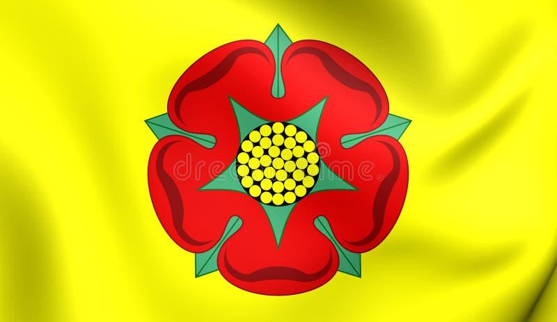 Bandeira do condado de Lancashire, Inglaterra ilustração royalty free