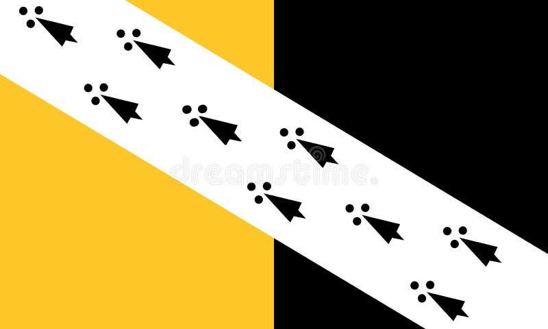 bandeira do Condado de Norfolk ilustração do vetor