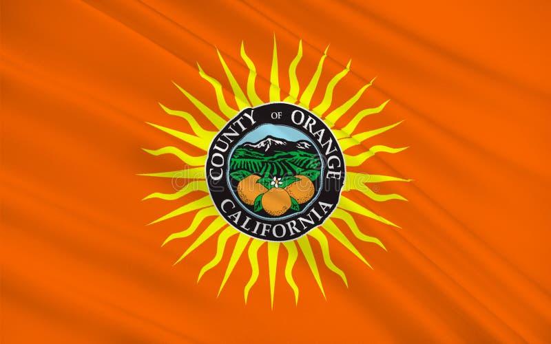 Bandeira do Condado de Orange, Califórnia, EUA ilustração royalty free