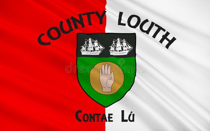 Bandeira do condado Louth na Irlanda ilustração stock