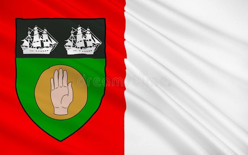 Bandeira do condado Louth na Irlanda ilustração do vetor
