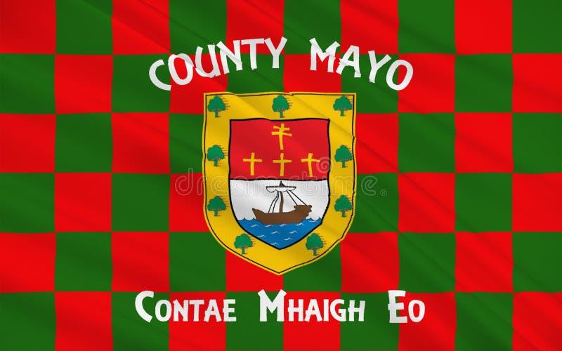 A bandeira do condado Mayo é um condado na Irlanda ilustração stock