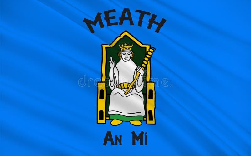 A bandeira do condado Meath é um condado na Irlanda ilustração do vetor