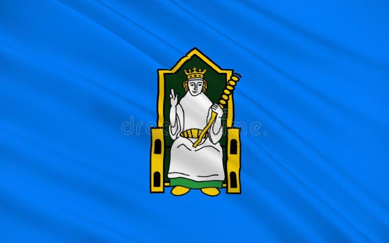 A bandeira do condado Meath é um condado na Irlanda ilustração royalty free