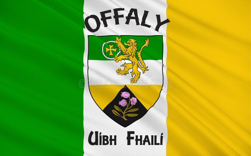 A bandeira do condado Offaly é um condado na Irlanda ilustração do vetor