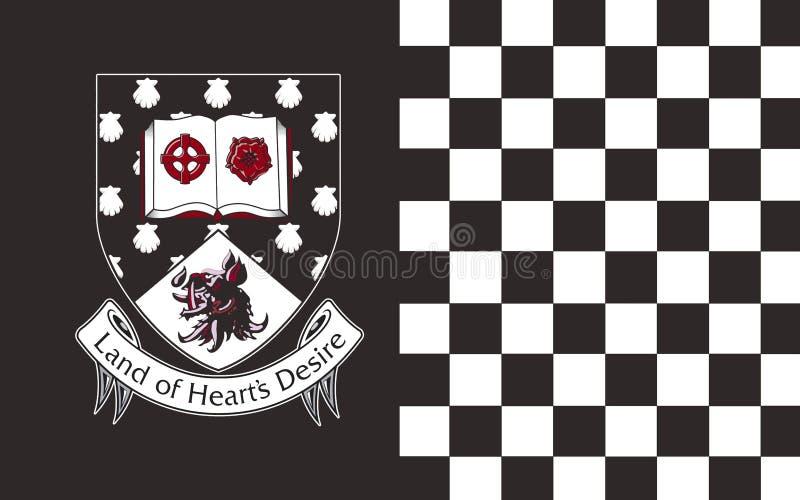A bandeira do condado Sligo é um condado na Irlanda ilustração do vetor