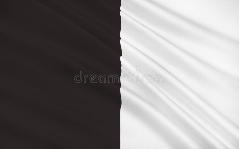A bandeira do condado Sligo é um condado na Irlanda ilustração stock