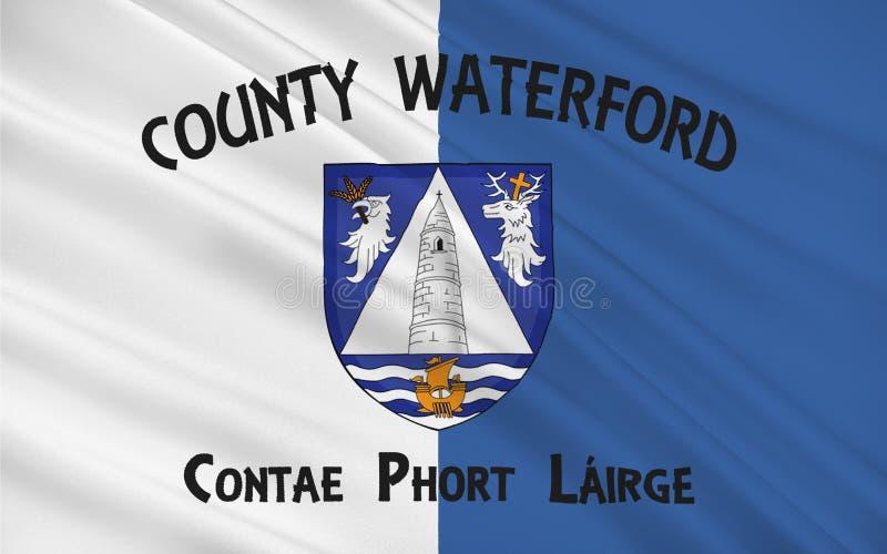 A bandeira do condado Waterford é um condado na Irlanda ilustração stock
